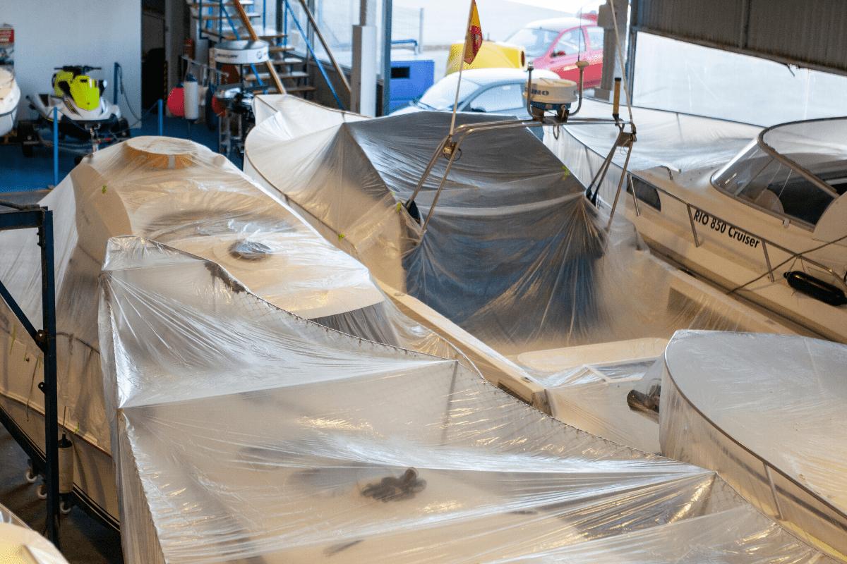 Barcos en invernaje en Asturias
