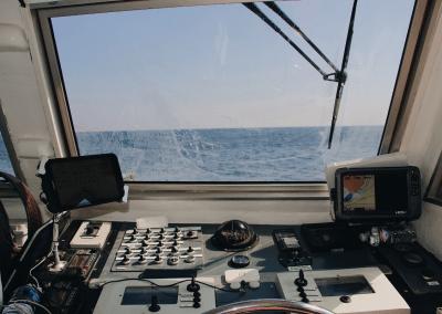 Sonda y GPS instaladas
