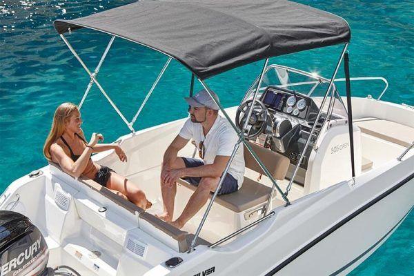 Embarcación Quicksilver 505 open toldo bimini