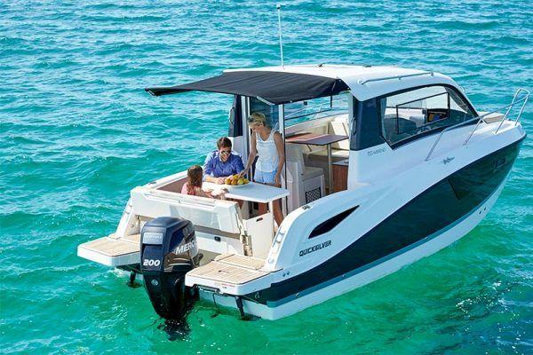 embarcacion Quicksilver 755 weekend con motor mercury