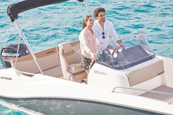 mandos barco quicksilver 605 open y toldo